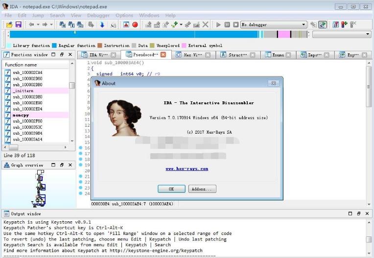 """反汇编程序""""IDA Pro""""7.0 绿色版"""